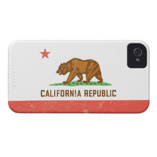 California State Flag Distressed iPhone 4 Case-Mate Case