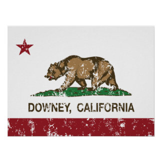 California State Flag Downey Print