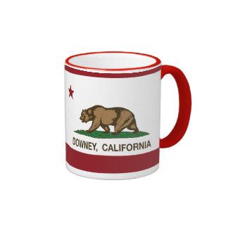 California State Flag Downey Ringer Mug