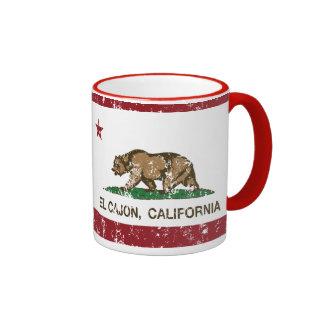 California State Flag El Cajon Ringer Mug