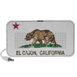 California State Flag El Cajon Mini Speakers