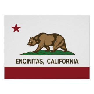California State Flag Encinitas Poster