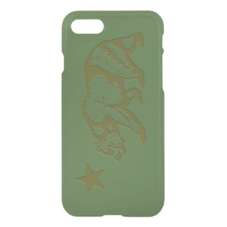 California State Flag Engraved Look iPhone 7 Case