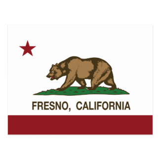 California State Flag Fresno Postcard