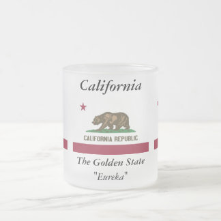 California State Flag Frosted Glass Mug