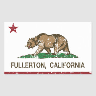 California State Flag Fullerton Rectangular Sticker
