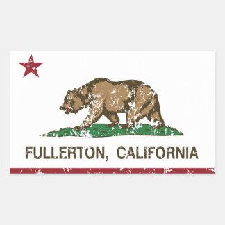 California State Flag Fullerton Rectangular Sticker