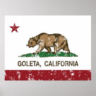 California State Flag Goleta Print