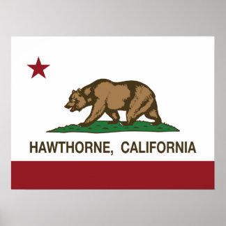 California State Flag Hawthorne Poster