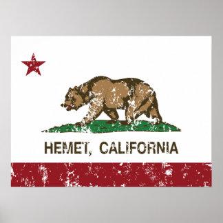California State Flag Hemet Print