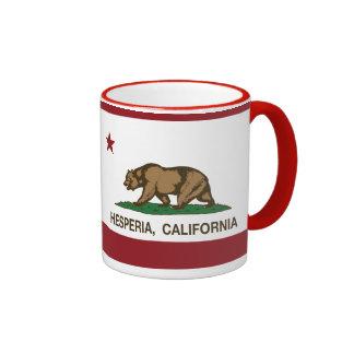 California State Flag Hesperia Ringer Mug