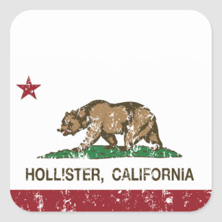California State Flag Hollister Square Sticker