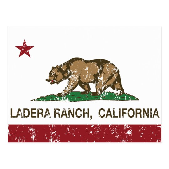 California State Flag Ladera Ranch Postcard