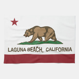 California State Flag Laguna Beach Tea Towel