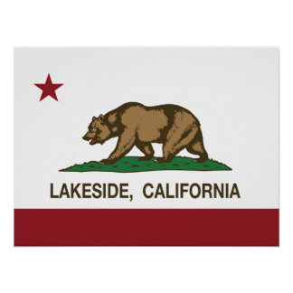 California State Flag Lakeside Posters
