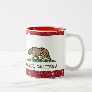 California State Flag Lakeside Two-Tone Mug
