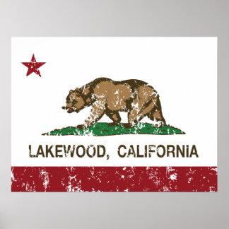 California State Flag Lakewood Poster