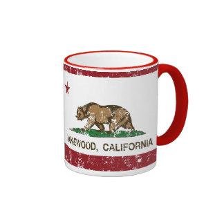 California State Flag Lakewood Ringer Mug