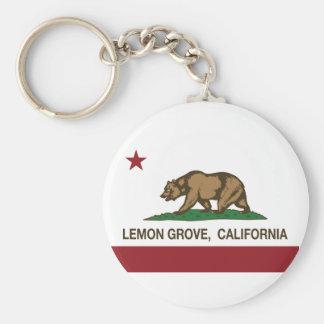 California State Flag Lemon Grove Key Chains