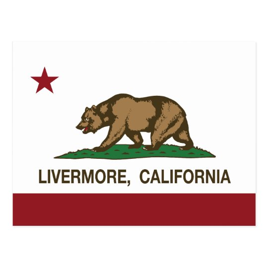 California State Flag Livermore Postcard