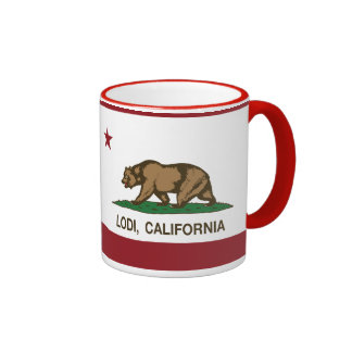 California State Flag Lodi Ringer Mug