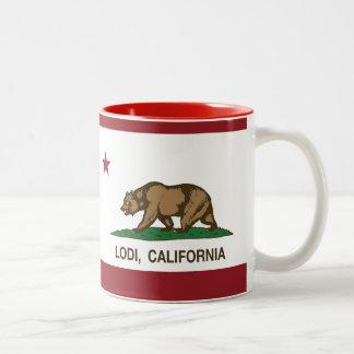 California State Flag Lodi Two-Tone Mug
