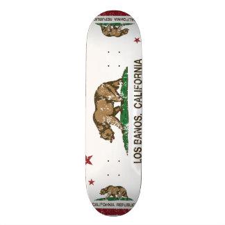 California State Flag Los Banos 18.1 Cm Old School Skateboard Deck