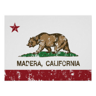 California State Flag Madera Posters