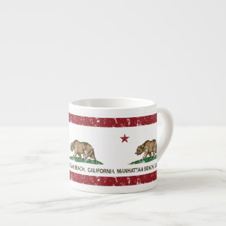 California State Flag Manhattan Beach Espresso Cup