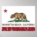California State Flag Manhattan Beach Posters