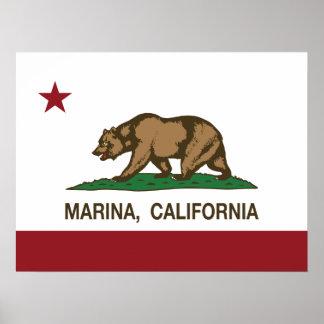 California State Flag Marina Posters