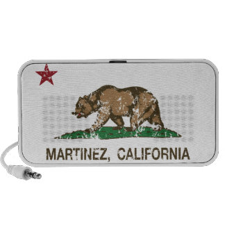 California State Flag Martinez Notebook Speaker