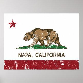 California State Flag Napa Posters