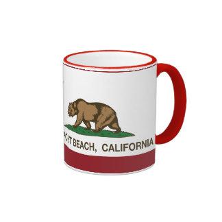 California State Flag Newport Beach Ringer Mug
