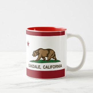 California State Flag Oakdale Two-Tone Mug