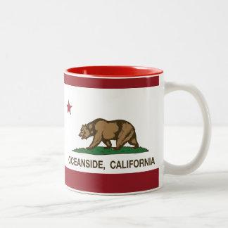California State Flag Oceanside Mugs