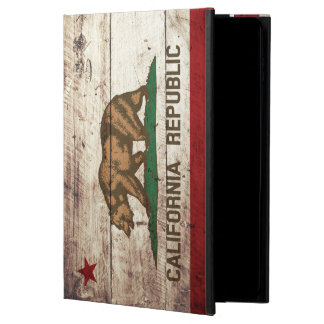 California State Flag on Old Wood Grain Powis iPad Air 2 Case