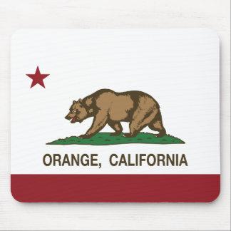 California State Flag Orange Mouse Mat