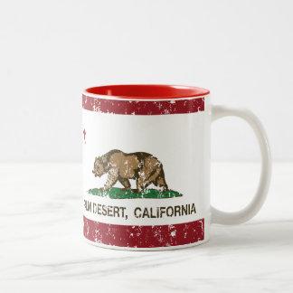 California State Flag Palm Desert Two-Tone Mug