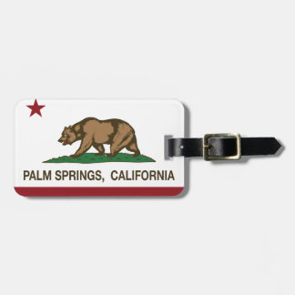 California State Flag Palm Springs Luggage Tag
