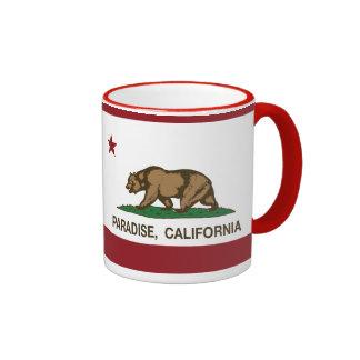 California State Flag Paradise Ringer Mug