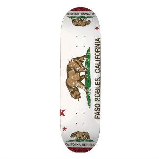 California State Flag Pasa Robles Custom Skate Board