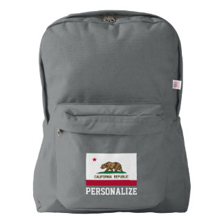 California state flag personalized backpack bag