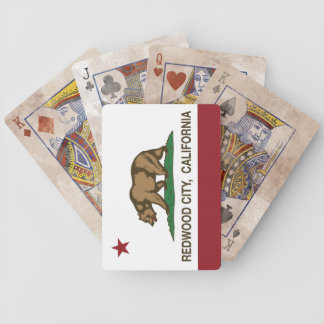 California State Flag Redwood City Bicycle Playing Cards
