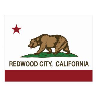 California State Flag Redwood City Postcard