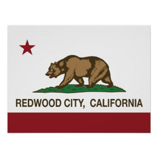 California State Flag Redwood City Poster