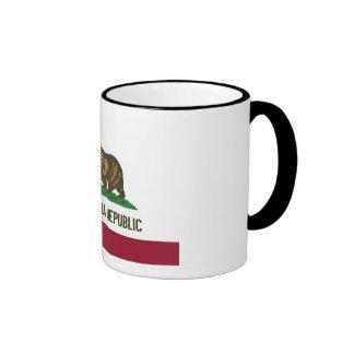California State Flag Ringer Mug