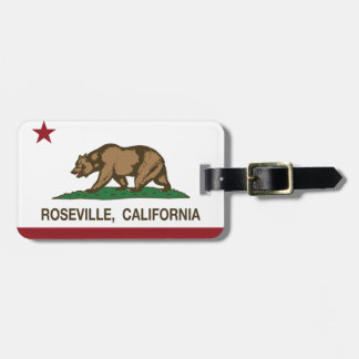 California State Flag Roseville Luggage Tag