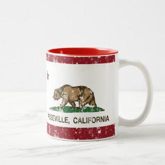 California State Flag Roseville Coffee Mugs