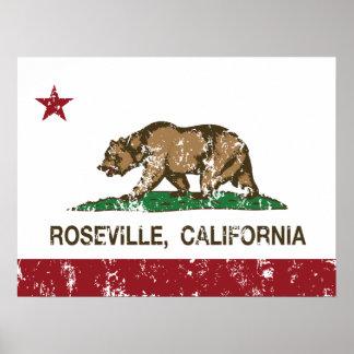 California State Flag Roseville Poster
